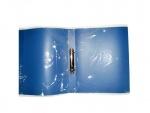 Папка с прижимом синяя