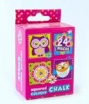 """Мел цветной квадратный 24 шт. """"Owl"""""""