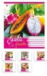 Тетрадь в клетку А5/24 Exotic Fruits