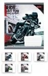 Тетрадь в клетку А5/24 Moto Ride