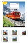 Тетрадь в линию А5/96 Trains&Nature-