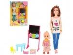 Кукла шарнирная с дочкой
