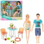 """Игровой набор кукол """"Семья на отдыхе"""", шарнирные"""