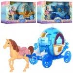 Карета игрушечная с лошадью 29см