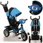 Детский трехколесный велосипед, голубой
