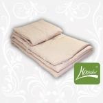 Комплект одеяло+подушка шерсть, бежевый