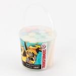 Мел цветной Jumbo 15 штук в ведерке Transformers