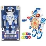 """Робот """"Android"""" стреляющий дисками, сине-белый"""