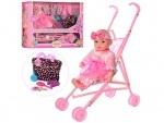 Игровой набор Lovely Baby - Пупс с коляской
