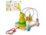 Деревянная игрушка- каталка