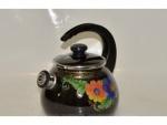Чайник эмалированный с крышкой 2,5л украинский сувенир