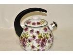 Чайник эмалированный с крышкой 2,5л джулия