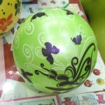 """Мяч 9"""" детский с бабочками"""