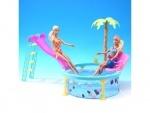 Кукольный набор мебели, бассейн