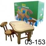 Мебель для куклы деревянная (стол и 2 стула)