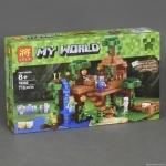 """Конструктор Леле """"My world - Minecraft - Домик на дереве в джунглях"""""""
