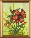 """Рисунок из ткани для вышивания бисером """"Цветочный каприз"""""""