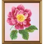 """Рисунок из ткани для вышивания бисером """"Цветок шиповника"""""""