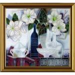 """Рисунок из ткани для вышивания бисером """"Вдохновение. Камелия"""""""