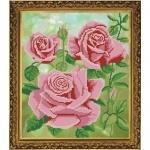 """Рисунок из ткани для вышивания бисером """"Царица цветок"""""""