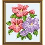 """Рисунок из ткани для вышивания бисером """"Флоксия"""""""