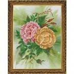 """Рисунок из ткани для вышивания бисером """"Розы"""""""