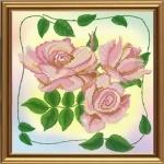 """Рисунок из ткани для вышивания бисером """"Розовая нежность"""""""