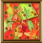 """Рисунок из ткани для вышивания бисером """"Летний этюд. Стрекозы"""""""