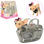 Игрушечная собачка Кикки в сумке