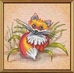 """Набор для вышивания нитками на канве с фоновым рисунком """"Рыжик"""""""