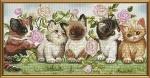"""Набор для вышивания нитками и бисером """"Котята"""""""