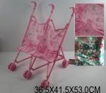 Игрушечная коляска для двойняшек