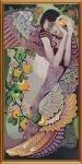 """Ткань с нанесенным рисунком-схемой """"Яблоневый сад"""", для вышивания бисером"""