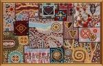 """Ткань с нанесенным рисунком-схемой """"Этно узоры"""", для вышивания бисером"""