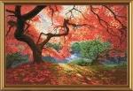 """Набор для вышивания нитками на белой канве """"Осенние лучи"""""""