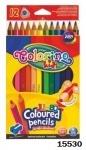 """Карандаши """"JUMBO"""" цветные, треугольные, 12 цветов, Колорино"""