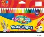 Карандаши цветные, стираемые, пластиковые, 24 цвета, Колорино