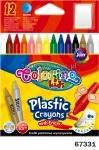 Карандаши цветные пластиковые, с резинкой, 12 цветов, Колорино
