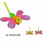 Каталка бабочка на палочке со светом