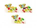Игровой набор в корзине - овощи,фрукты на липучке
