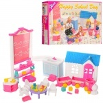 Мебель для кукол детская комната