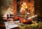 """Касторленд пазлы 1000 """"Натюрморт со скрипкой и живописью"""""""