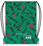 """Эко-рюкзак """"Листья папоротника с цветком"""""""