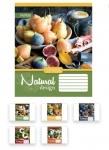 Тетрадь в клеточку А5/18 1В NATURAL FRUITS