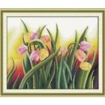 Вышивка крестиком Яркие тюльпаны