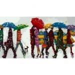 Картина по номерам - Разноцветный дождь (без коробки)