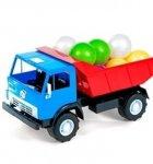 Детская машинка КамАЗ Х2, с шариками
