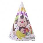 """Колпаки """"С Днем Рождения"""", маленькие, обезьянка"""