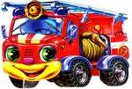 Мягкие машинки. Пожарная машина (р)