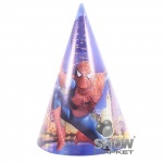 """Колпаки бумажные """"Человек паук"""", маленькие"""